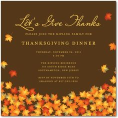 23 best thanksgiving party invitations images on pinterest