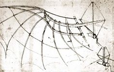 Leonardo Da Vinci, the original Renaissance Man, was best known as a master painter and sculptor. Da Vinci Inventions, Machine Volante, Human Wings, High Renaissance, Josef Albers, 3d Pen, Bird Wings, Gliders, Tatoos