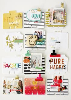 vacation memory dex Heidi Swapp MemoryDex tips and tricks by Kim Jeffress for Heidi Swapp Mini Scrapbook Albums, Scrapbook Paper, Mini Albums, Project Life Cards, Vacation Memories, Rolodex, Heidi Swapp, Candy Cards, Happy Planner