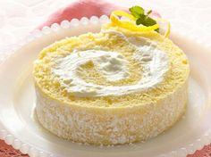 Lemon Cream Roll: Lovely swirls of tender cake hold a creamy, sweet-tart filling. Great make-ahead dessert!