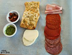 Ingredients for a Toasted Italian Sandwich