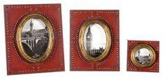 Abeo Red Photo Frames, Set of 3 - traditional - frames - Fratantoni Lifestyles