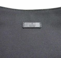 """Gucci Canvas Black Capri Handbag Hobo Shoulder Bag 257296 1000 By Gucci ORIGINAL Black canvas material Leather trim and handle Snap button closure One interior zip pocket Measures approximately: 12.5"""" L x 11"""" H - Strap drop: 11"""" Authenticity cards and tags included - this model does not have a dust bag Made in Italy Gucci Canvas Black Capri Handbag Hobo Shoulder Bag 257296 1000 Beautiful GUCCI hobo bag is classic and perfect for office and casual. It features black canvas mater..."""