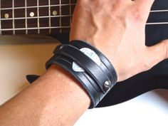 Guitar Pick Cuff by FrankenStrap on Etsy, $30.00