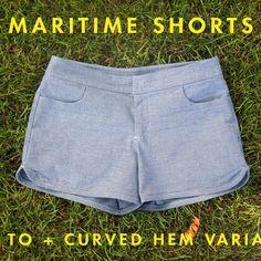 Sewing Tutorial | Maritime Shorts + A Variation
