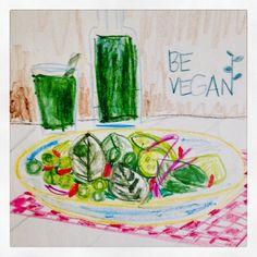 Be Vegan #vegan #ilustraciones