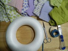 Patchwork Wreaths from foam method / Without the use of needle work  //  kinusayga