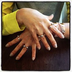Love how @yoonmi_lee is wearing #JoomiSpike ring with #LondonCalling skull ring. Also love her nails!