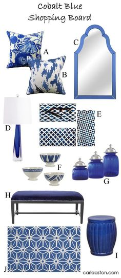 10 Must-Have Furnishings & Decor Colored In Vivid Cobalt Blue! — DESIGNED w/ Carla Aston