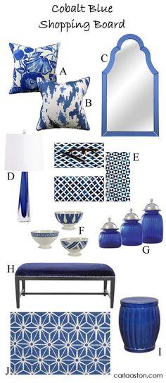 10 Must-Have Furnishings & Decor Colored In Vivid Cobalt Blue! — DESIGNED w/ Carla Aston