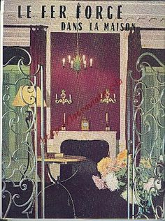 LE FER FORGE par  Robert Klein . Editions : Charles Massin en  Vers 1960 . Etat : Parfait .  Encore 1 exemplaire en vente sur www.la-traviata.fr