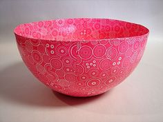 Paper Mache Bowls, handcrafted entirely out of recycled paper. These bowls come in 3 sizes: S M L Paper Mache Bowls, Paper Mache Crafts, Arts And Crafts Projects, Diy And Crafts, Construction Paper, Joanns Fabric And Crafts, Curling, Quilting Projects, Craft Stores
