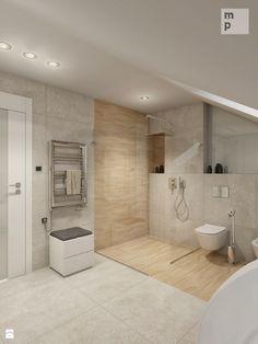 INTERIOR | Łazienka 04 - Duża łazienka na poddaszu, styl nowoczesny - zdjęcie od…