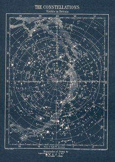 circa 1900s constellation map