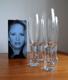 """HABITAT """"VIP"""" RANGE CHAMPAGNE GLASSES by TANYA STREETER  