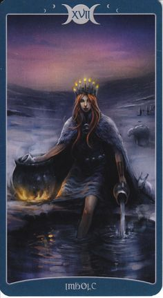 Imbolc card from The Book of Shadows Tarot