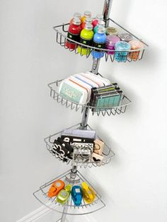 Shower rack for craft organization