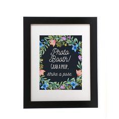 ブラック ボード写真ブース サイン、印刷可能な写真ブース結婚式のサイン、ブラック ボード看板、結婚式 Printables、花の結婚式のサイン