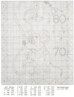 GRAFICOS PUNTO DE CRUZ GRATIS : MEDIDOR(17) Disney Cross Stitch Patterns, Cross Stitch Baby, Mickey Mouse, Education, Cross Stitch, Cross Stitch Designs, Gauges, Dots, Manualidades