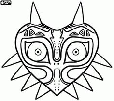 The Legend of Zelda: Majora's Mask coloring page