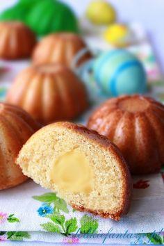 Babeczki waniliowe z budyniem / Vanilla cupcakes with pudding