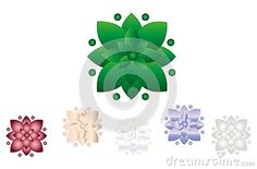 Illustration about Abstract flower logo, isolated vector illustration, colored icon design. Illustration of colorful, design, environment - 100458195 Flower Logo, Abstract Flowers, Icon Design, Symbols, Logos, Illustration, Green, Art, Art Background