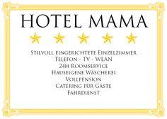 Hotel-Mama-Karte von aparte-karte auf DaWanda.com