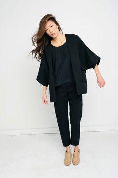 Emma Kimono in Cotton Twill – Elizabeth Suzann
