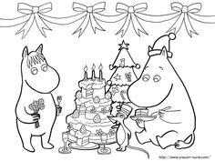クリスマスの塗り絵ムーミン : 【冬季節】クリスマス・サンタクロースの無料塗り絵(ぬりえ)画像集 テンプレート - NAVER まとめ