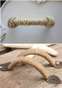 Cover damaged or mis-matched drawer handles with twine or rope for ...