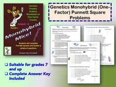 Free genetics problems for students in grades 7 and up.