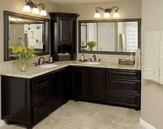Like the corner cabinet.  Master Bath Remodel - traditional - bathroom - houston - Carla Aston | Interior Designer