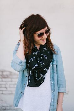 the ABLE scarf - black/white | fashionABLE