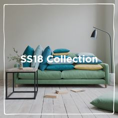 It's time to CRANK up the COLOUR with our collection! Bursting with bright new sofas, fabrics and painted furniture, plus (wait for it) our first ever curtains. Put on your shades & get ready to perk up your palette. Painted Furniture, Sofas, Couch, Curtains, Fabrics, Palette, Shades, Bright, Colour