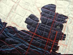 city map quilt: OMG OMG OMG-- I will never make this but would TOTALLY buy one. SO CUTE!