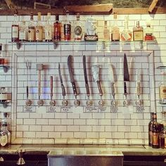 knives or beer taps?