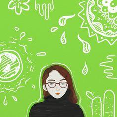 My mind right now....digital illustration