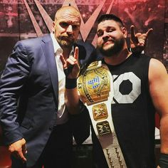 Triple H and WWE Intercontinental Champion Kevin Owens.