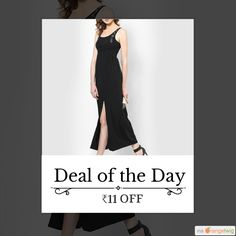 Today Only! ₹11 OFF this item.  Follow us on Pinterest to be the first to see our exciting Daily Deals. Today's Product: Black Casual Slit Dress Buy now: http://orangetwig.myshopify.com/products/black-casual-slit-dress?utm_source=Pinterest&utm_medium=Orangetwig_Marketing&utm_campaign=DD1   #beautiful #instagood #instafollow #photooftheday #picoftheday #love #smallbiz #instalike #shopsmall #shopping #etsy #ootd #OrangeTwig #sale #dailydeal #dealoftheday #todayonly #instadaily #forsale…