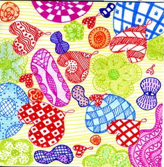 colorful zentangle by Manurnakey, via Flickr