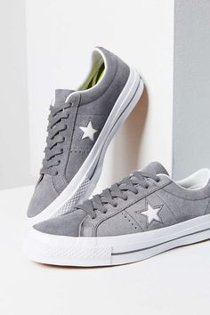 Shop Converse One Star Premium Suede Sneaker at Urban Outfitters today. We carry all the latest styles, colors and brands for you to choose from right here. Converse Trainers, Grey Sneakers, Classic Sneakers, Suede Sneakers, Suede Shoes, Converse Shoes, Sneakers Fashion, Shoe Boots, Sneakers