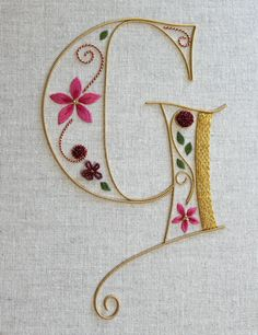 Silk and Gold Monogram class Royal School of Needlework