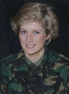 25 January 1990: Princess Diana, Colonel-in-Chief, visits The Royal Hampshire Regiment stationed at Ebrington Barracks, Londonderry, Northern Ireland..