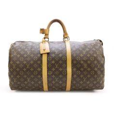 4a4f13e0f5d5 Louis Vuitton Keepall 55 Monogram Luggage Brown Canvas M41424   Louis  vuitton - Monogram - Luxury fasion used store Rastro   Pinterest   Louis  vuitton ...