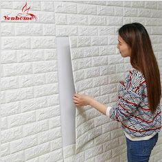 Cheap wallpapers for, Buy Quality wall sticker directly from China brick wall stickers Suppliers: DIY Self Adhensive Brick Wall Stickers Living Room Decor Foam Waterproof Wall Covering Wallpaper For TV Background Kids Room Wall Stickers Brick, Wallpaper Stickers, Cheap Wall Stickers, Wall Stickers Home, Self Adhesive Wallpaper, Living Room Grey, Living Room Decor, Wallpaper Room Decor, Windows