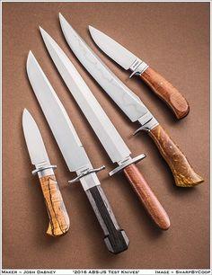 The Journeyman Smith test knives of Josh Dabney J.S.