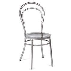 Inspired by classic bentwood designs, this galvanized steel side chair adds a sleek touch to your breakfast nook or dining table. Product: ChairConstruction Material: Galvanized steelColor: SteelDimensions: H x W x D All Modern, Modern Decor, Modern Furniture, Home Furniture, Bentwood Chairs, Contemporary Dining Chairs, Side Chairs, Interior Styling, Outdoor Chairs