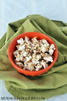 This Maple Coconut Popcorn makes an easy, kid friendly snack recipe. It's a huge fave in our house! Vegan, gluten free and no refined sugar.