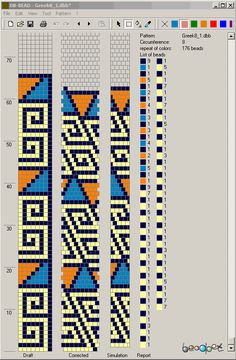 Bead Crochet Pattern, 8 around