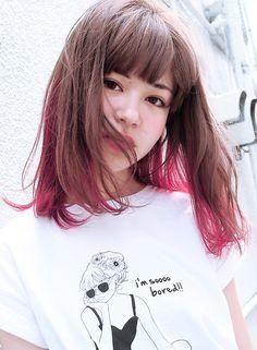 マーブルグラデーション 【suburbia】 http://www.beauty-navi.com/salon/22297?pint ≪ #red #pink #hairstyle・ヘアスタイル・髪形・髪型・赤・ピンク・レッド≫